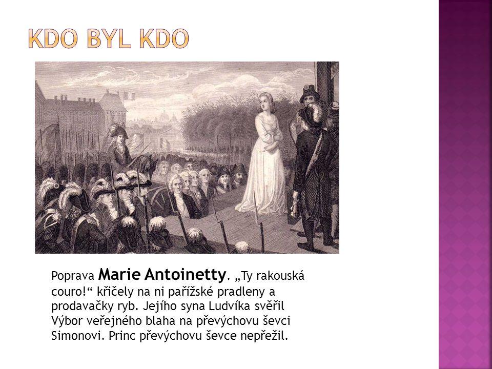 """Poprava Marie Antoinetty. """"Ty rakouská couro!"""" křičely na ni pařížské pradleny a prodavačky ryb. Jejího syna Ludvíka svěřil Výbor veřejného blaha na p"""