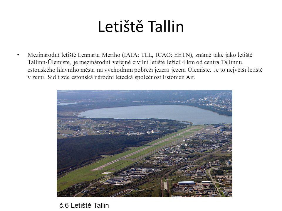 Letiště Tallin Mezinárodní letiště Lennarta Meriho (IATA: TLL, ICAO: EETN), známé také jako letiště Tallinn-Ülemiste, je mezinárodní veřejné civilní l