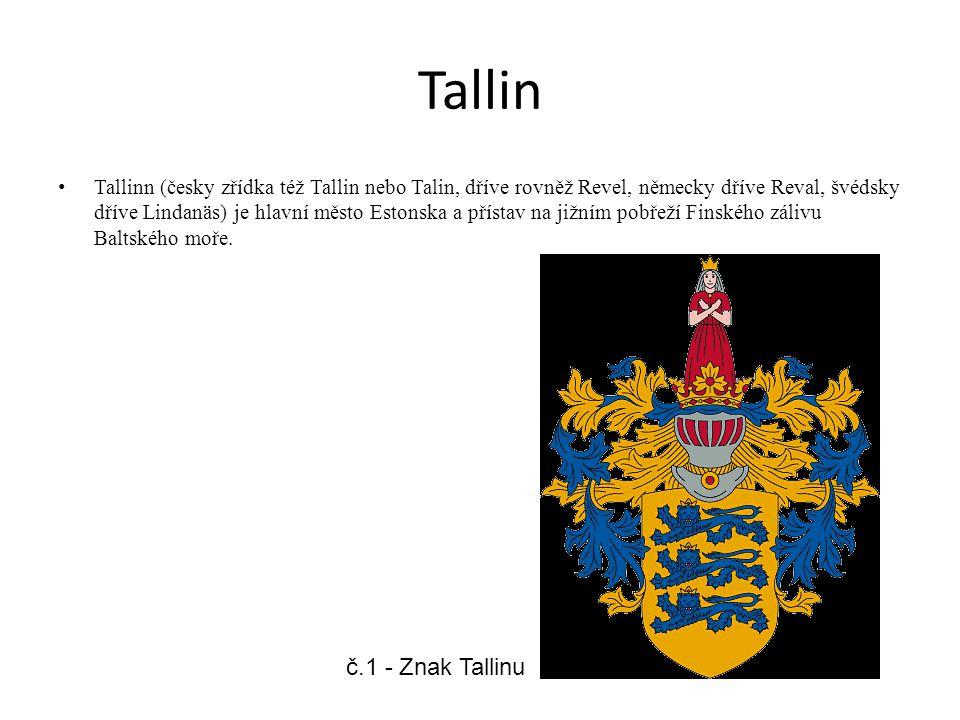 Tallin Tallinn (česky zřídka též Tallin nebo Talin, dříve rovněž Revel, německy dříve Reval, švédsky dříve Lindanäs) je hlavní město Estonska a přísta