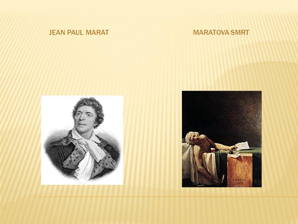 JEAN PAUL MARATMARATOVA SMRT