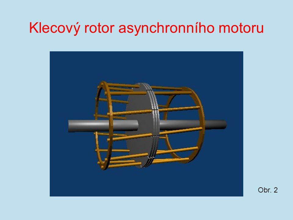 Klecový rotor asynchronního motoru Obr. 2