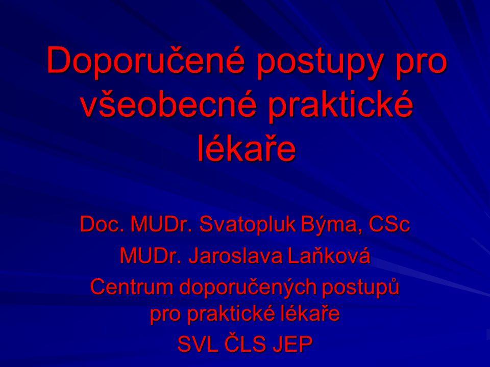 Doporučené postupy pro všeobecné praktické lékaře Doc.