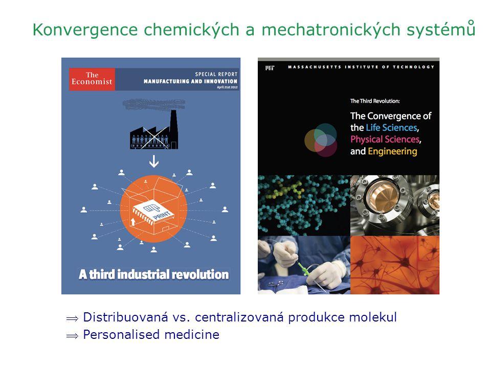 Konvergence chemických a mechatronických systémů  Distribuovaná vs. centralizovaná produkce molekul  Personalised medicine