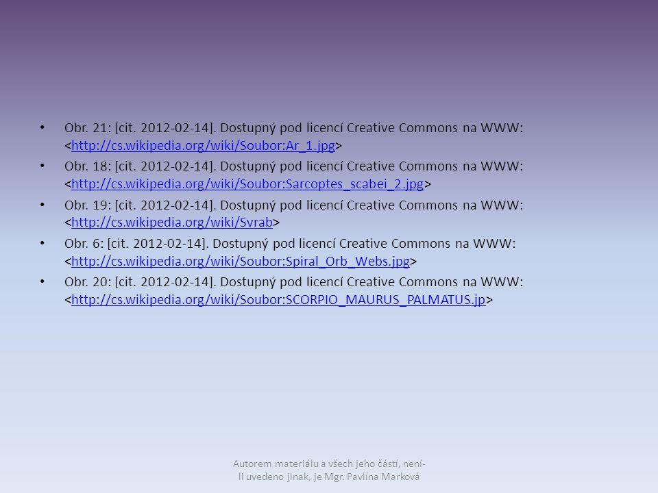 Obr. 21: [cit. 2012-02-14]. Dostupný pod licencí Creative Commons na WWW: http://cs.wikipedia.org/wiki/Soubor:Ar_1.jpg Obr. 18: [cit. 2012-02-14]. Dos