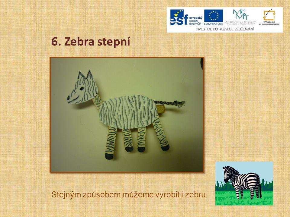 6. Zebra stepní Stejným způsobem můžeme vyrobit i zebru.