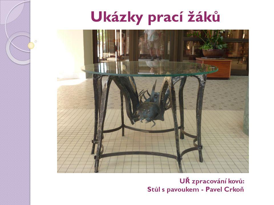 Ukázky prací žáků UŘ zpracování kovů: Stůl s pavoukem - Pavel Crkoň
