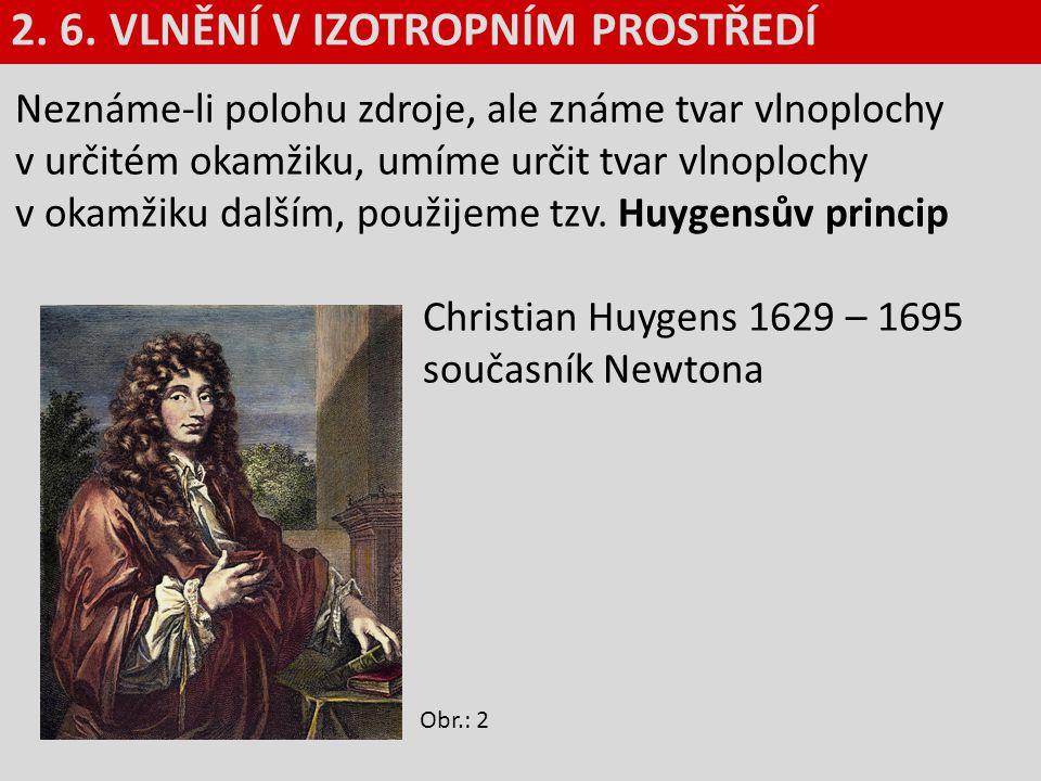 Neznáme-li polohu zdroje, ale známe tvar vlnoplochy v určitém okamžiku, umíme určit tvar vlnoplochy v okamžiku dalším, použijeme tzv. Huygensův princi
