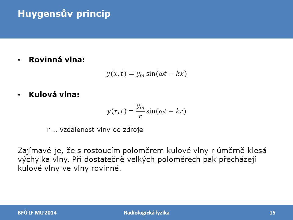 Huygensův princip Radiologická fyzika15BFÚ LF MU 2014