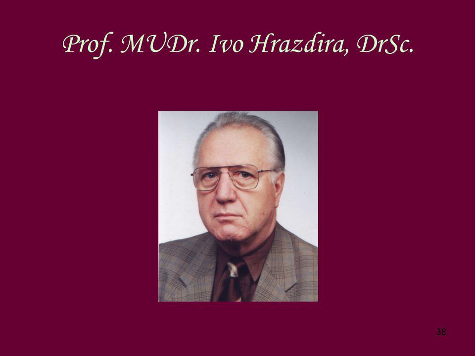 38 Prof. MUDr. Ivo Hrazdira, DrSc.