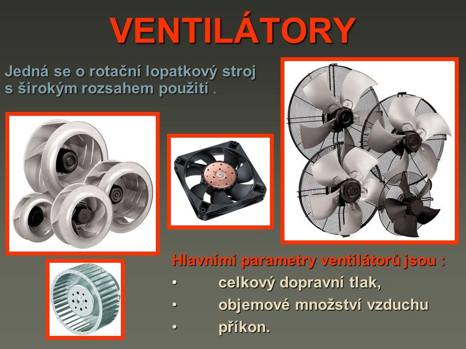 VENTILÁTORY Jedná se o rotační lopatkový stroj s širokým rozsahem použití Jedná se o rotační lopatkový stroj s širokým rozsahem použití.
