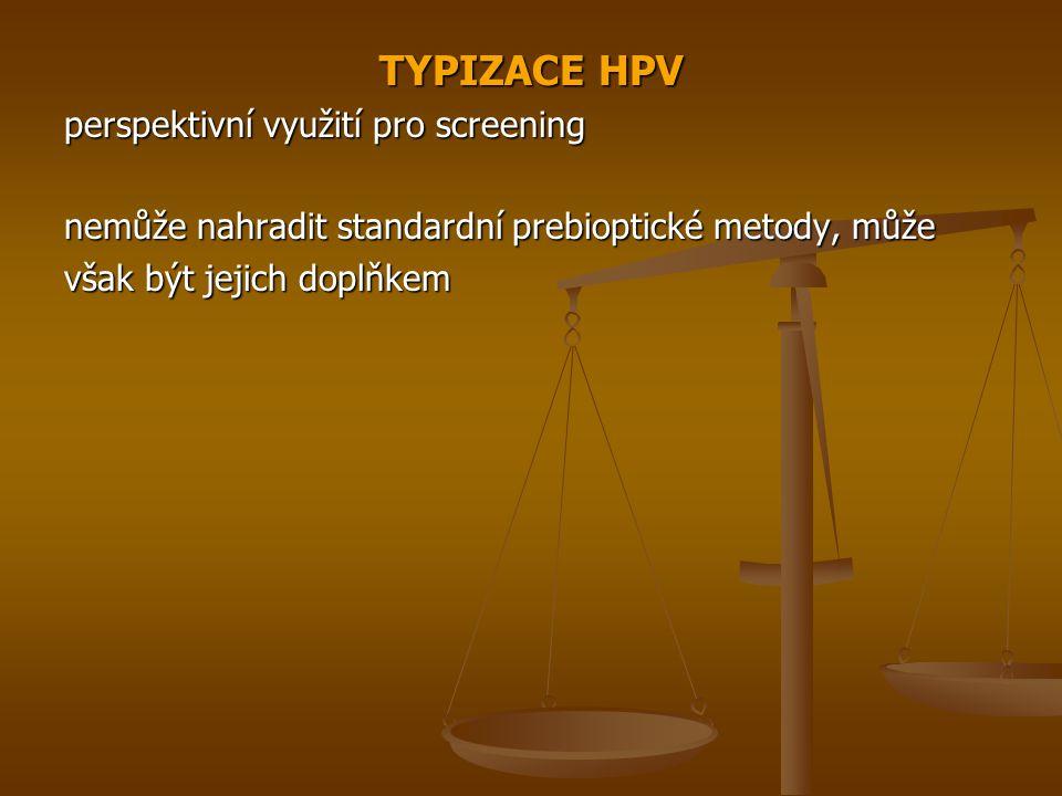 TYPIZACE HPV perspektivní využití pro screening nemůže nahradit standardní prebioptické metody, může však být jejich doplňkem
