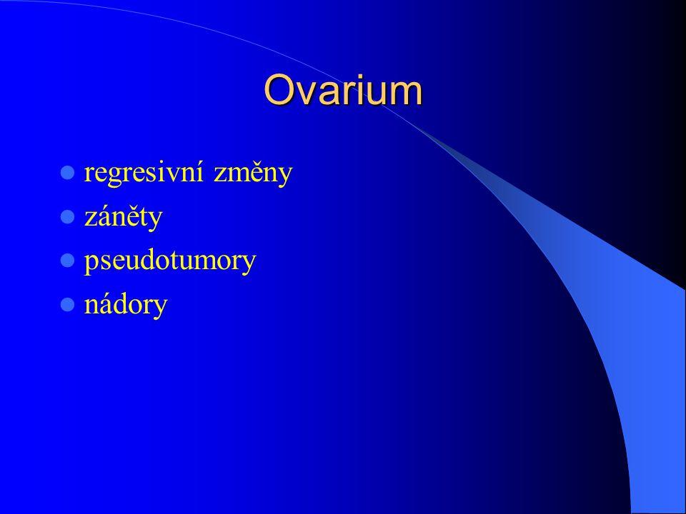 Ovarium regresivní změny záněty pseudotumory nádory