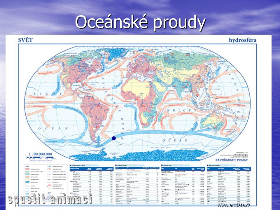Oceánské proudy www.arcdata.cz