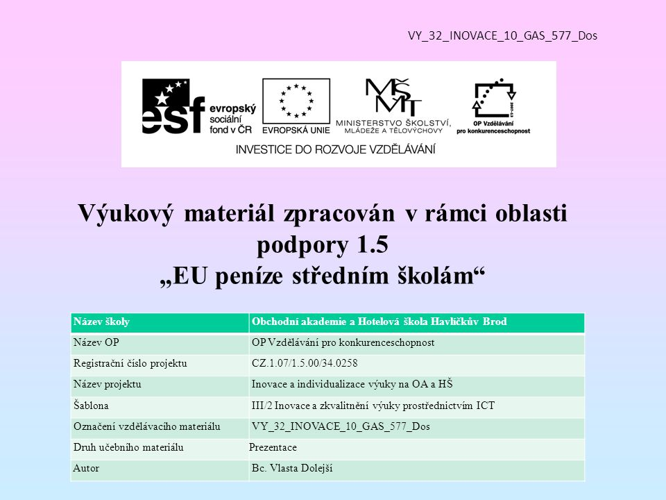 Vzdělávací obor, pro který je materiál určen 29-54-H/01 Cukrář Předmět Cukrářská technologie Ročník 1.
