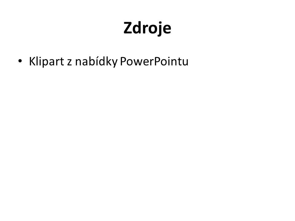 Zdroje Klipart z nabídky PowerPointu