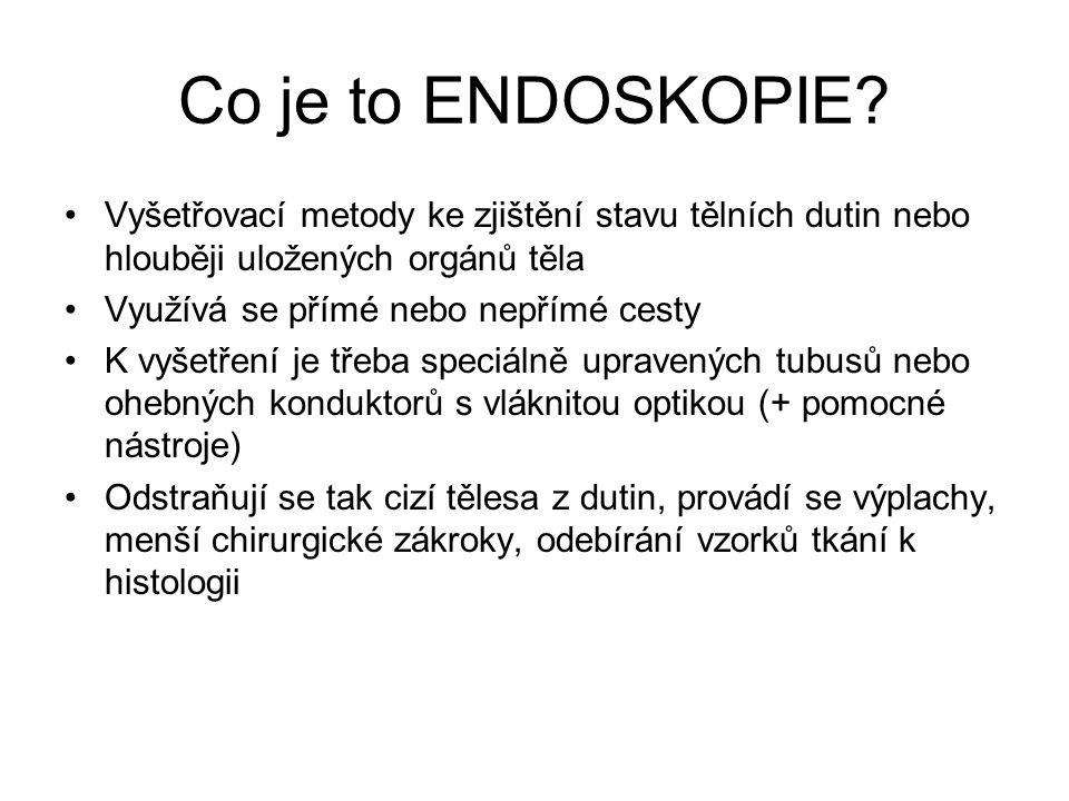 Historie 1806 - První zaznamenaný endoskopický pokus provedl P.