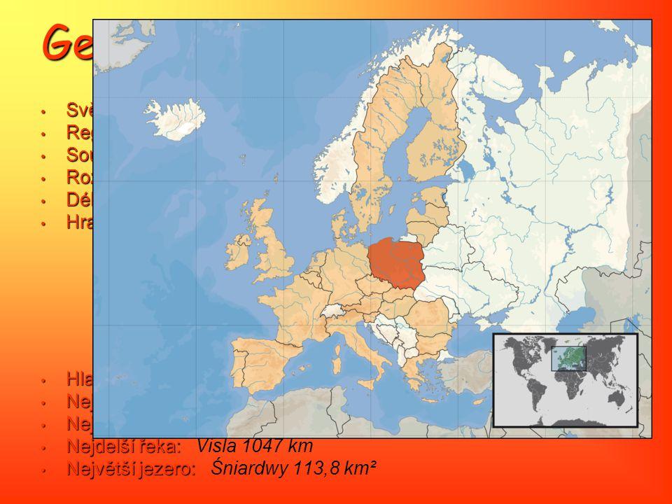 Geografie Světadíl: Světadíl: Evropa Region: Region: Střední Evropa Souřadnice: Souřadnice: 52° 08' 49