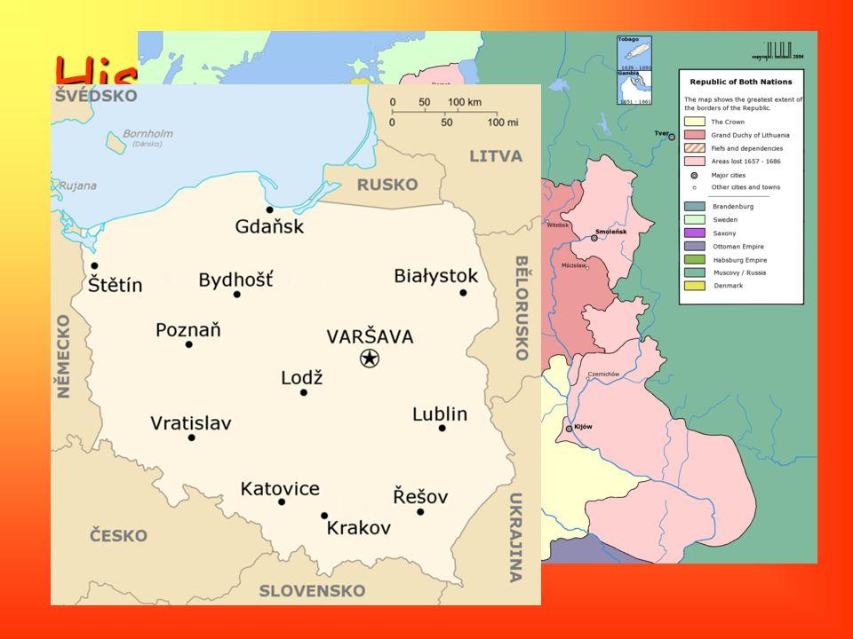 """Historie 1939 1939 - Polsko okupováno Německem a Sovětským svazem po válce bylo Polsko rozšířeno o západní """"nová území"""" až po hranici s Německem na Ni"""