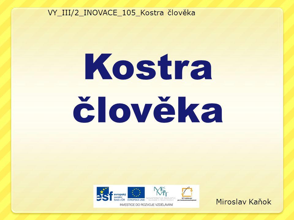 VY_III/2_INOVACE_105_Kostra člověka Kostra člověka Miroslav Kaňok