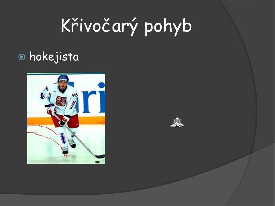 Křivočarý pohyb  hokejista