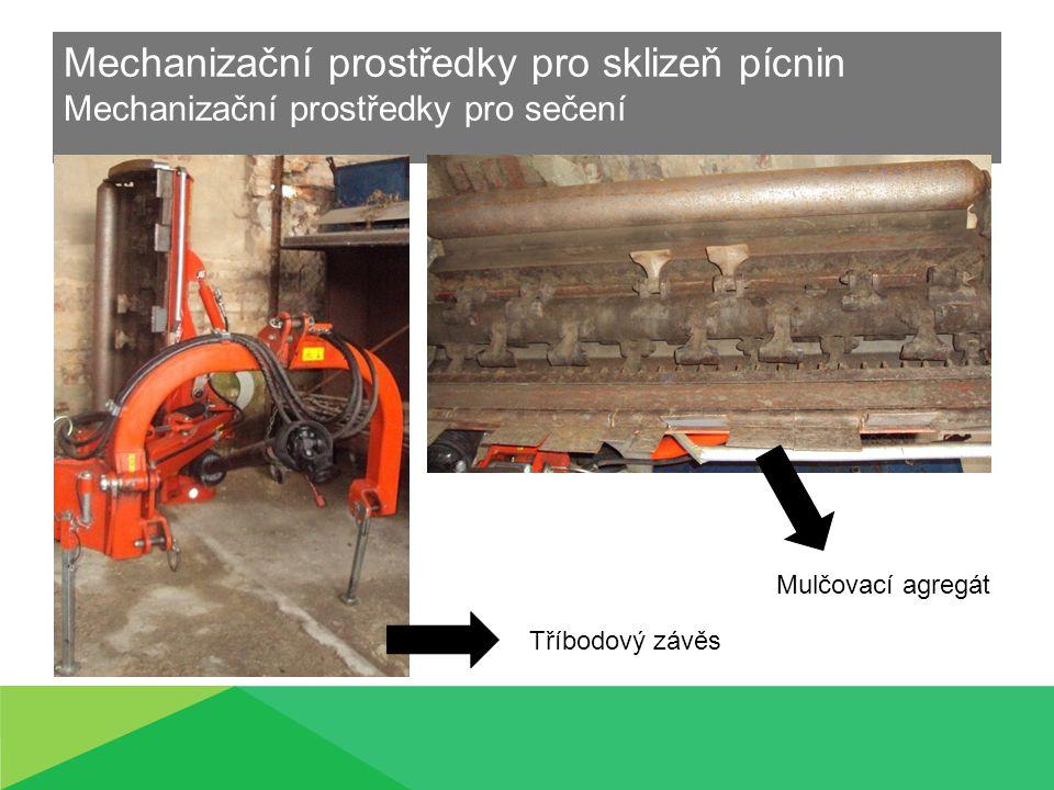 Mechanizační prostředky pro sklizeň pícnin Mechanizační prostředky pro sečení Tříbodový závěs Mulčovací agregát
