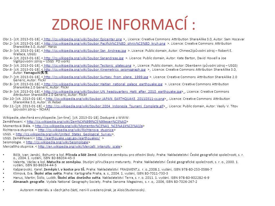 ZDROJE INFORMACÍ : Obr.1- [cit. 2013-01-18].. Licence: Creative Commons Attribution ShareAlike 3.0, Autor: Sam Hocevarhttp://cs.wikipedia.org/wiki/Sou