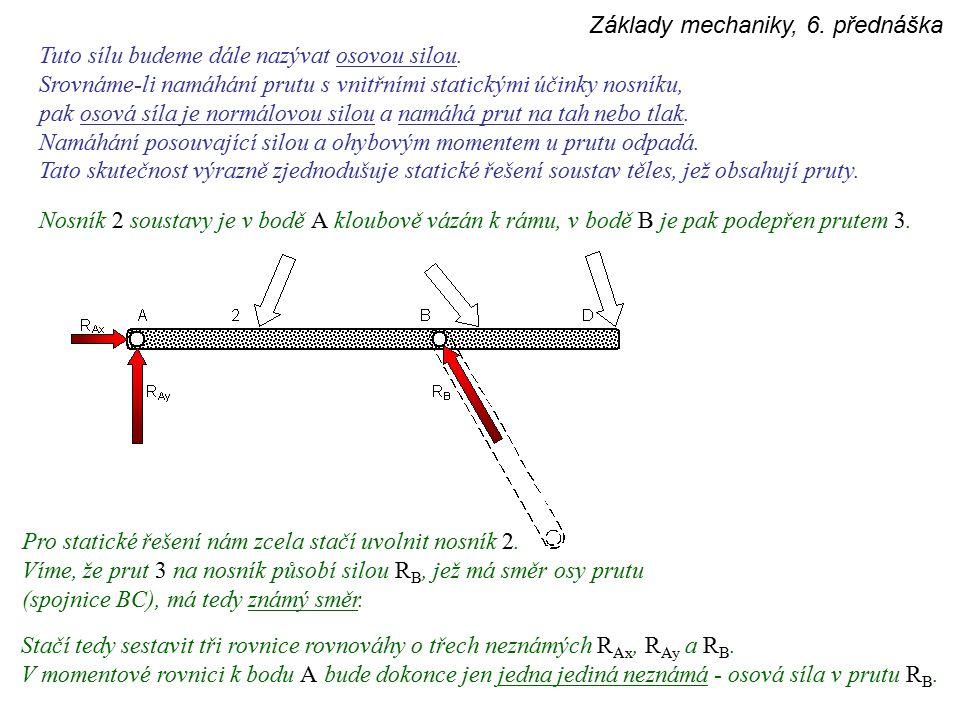 Základy mechaniky, 6.
