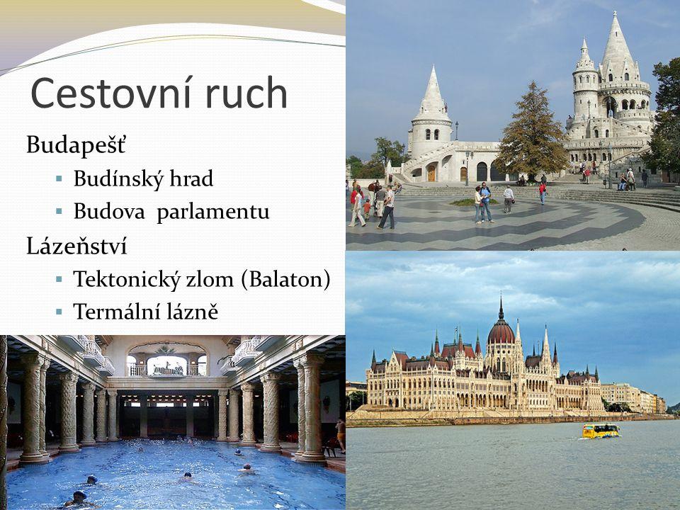 Cestovní ruch Budapešť  Budínský hrad  Budova parlamentu Lázeňství  Tektonický zlom (Balaton)  Termální lázně