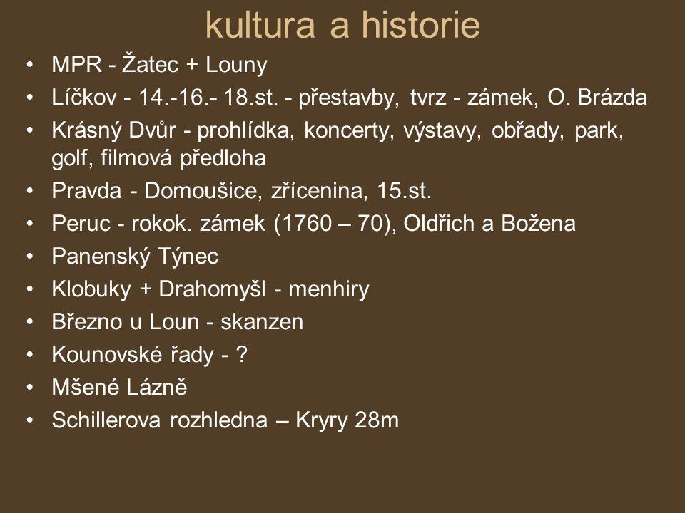 kultura a historie MPR - Žatec + Louny Líčkov - 14.-16.- 18.st.