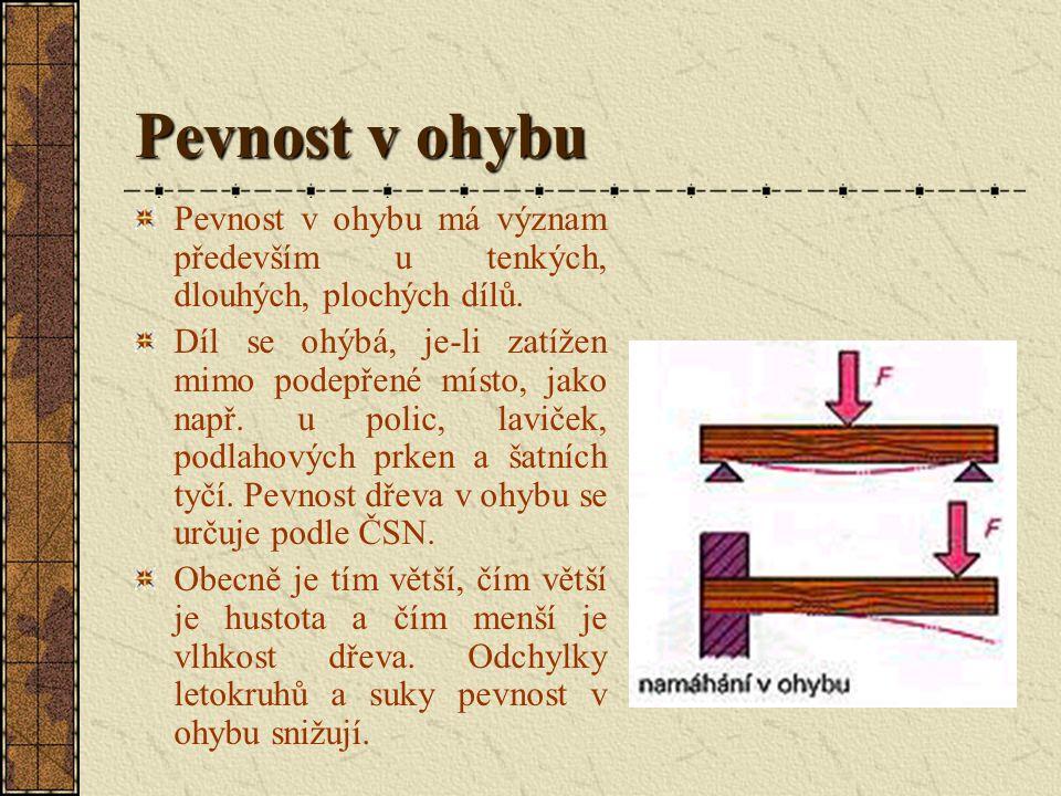 Pevnost v ohybu Pevnost v ohybu má význam především u tenkých, dlouhých, plochých dílů.