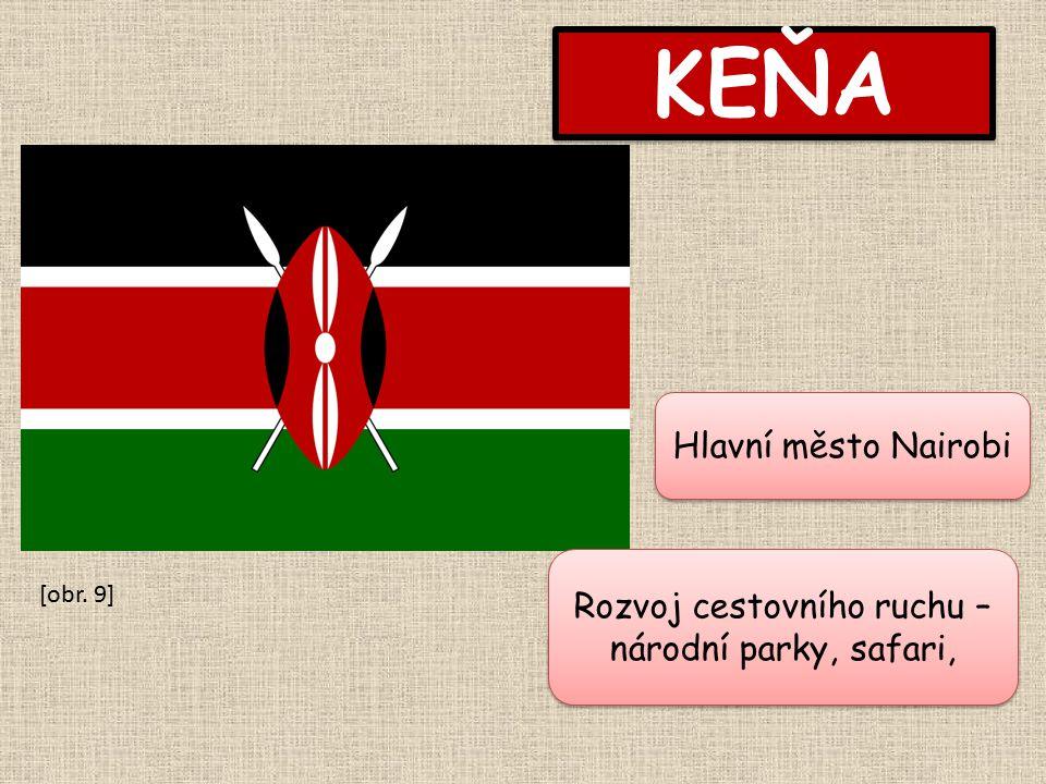 KEŇA Hlavní město Nairobi Rozvoj cestovního ruchu – národní parky, safari, [obr. 9]