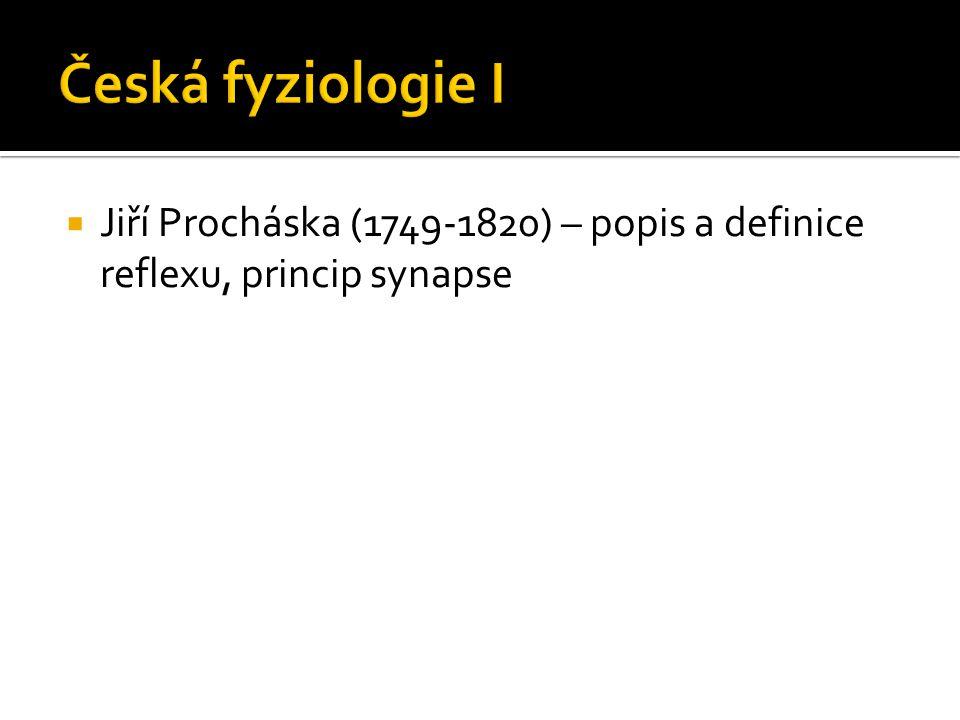  Jiří Procháska (1749-1820) – popis a definice reflexu, princip synapse