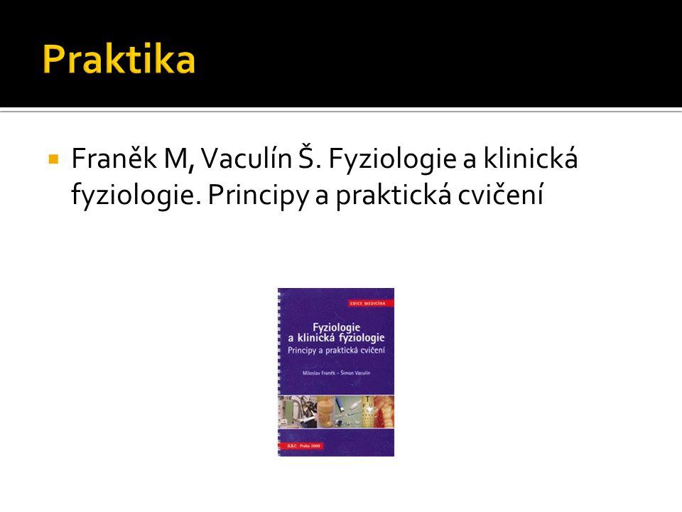  Franěk M, Vaculín Š. Fyziologie a klinická fyziologie. Principy a praktická cvičení