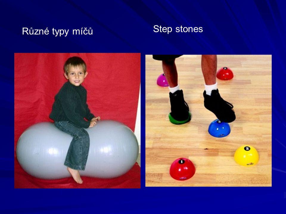 Různé typy míčů Step stones