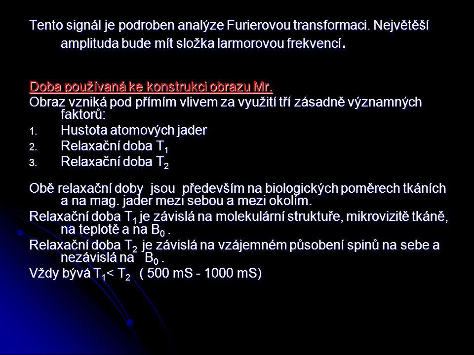 Tento signál je podroben analýze Furierovou transformaci.