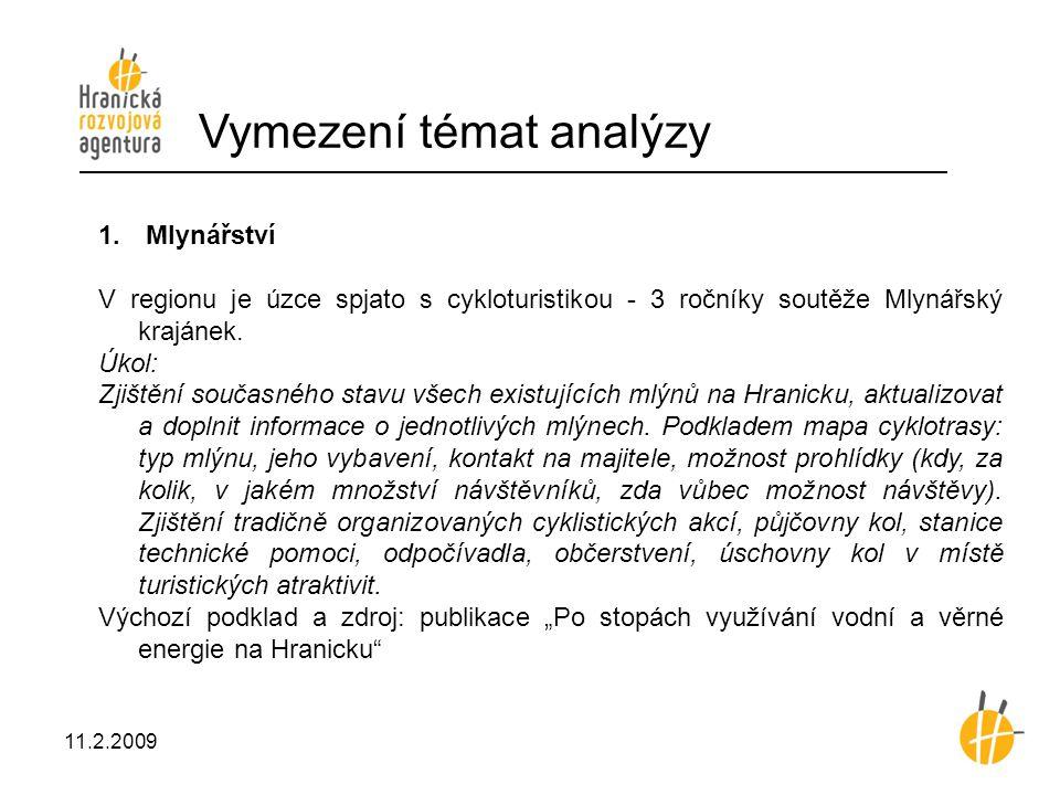 Vymezení témat analýzy 1.