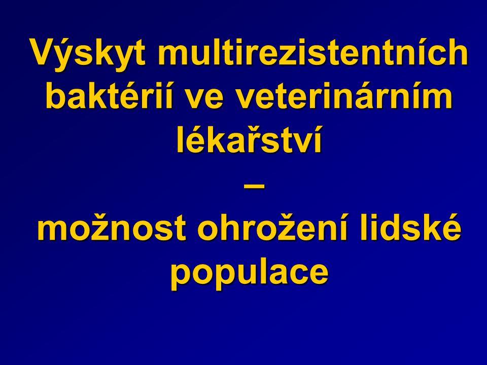 Výskyt multirezistentních baktérií ve veterinárním lékařství – možnost ohrožení lidské populace