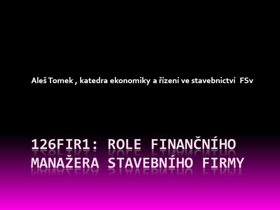 Místo finančního řízení v organizaci firmy