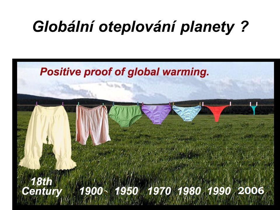 Globální oteplování planety ?
