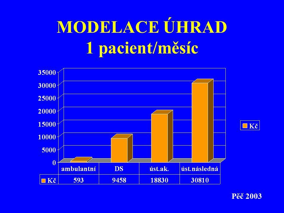MODELACE ÚHRAD 1 pacient/měsíc Pěč 2003