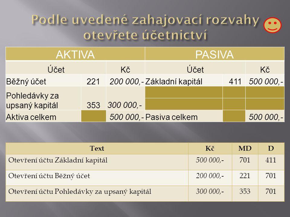 Částka převyšuje 60 000 Kč dlouhodobý nehmotný majetek Částka nepřevyšuje 60 000 Kč zahrnuty do nákladů odepisování : daňově 60 měsíců, účetně do 5 let