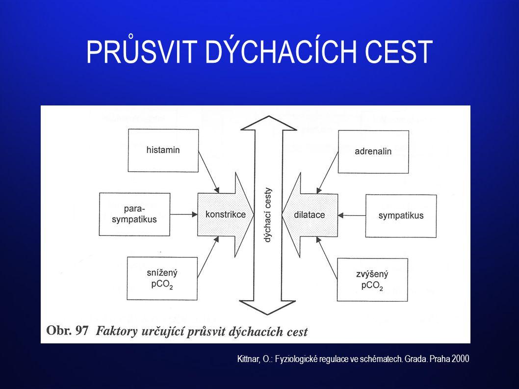 PRŮSVIT DÝCHACÍCH CEST Kittnar, O.: Fyziologické regulace ve schématech. Grada. Praha 2000