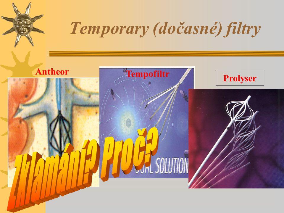 Temporary (dočasné) filtry Prolyser Tempofiltr Antheor
