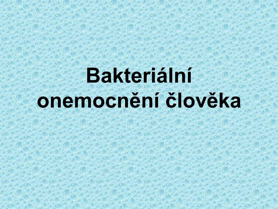 Bakteriální onemocnění člověka