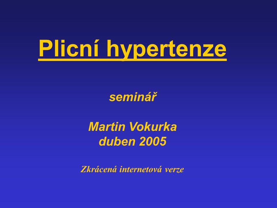 Plicní hypertenze seminář Martin Vokurka duben 2005 Zkrácená internetová verze