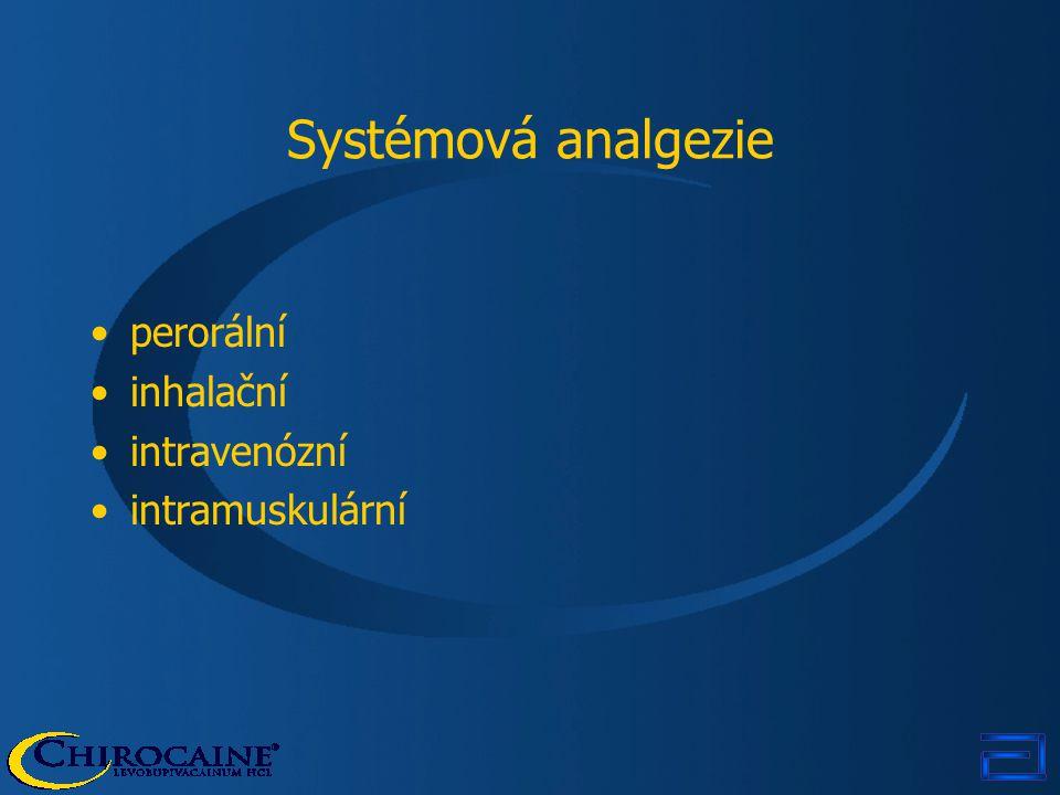 Systémová analgezie perorální inhalační intravenózní intramuskulární