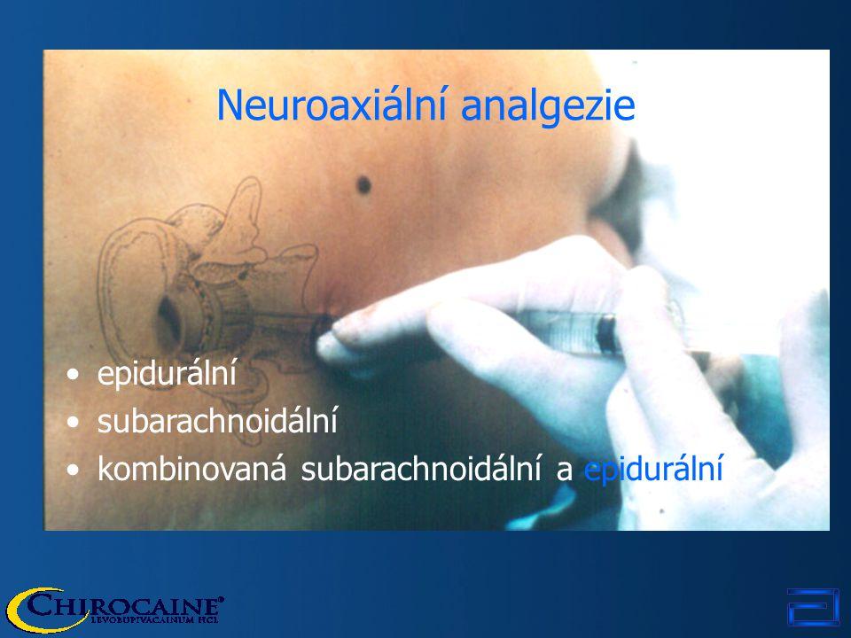 Neuroaxiální analgezie epidurální subarachnoidální kombinovaná subarachnoidální a epidurální