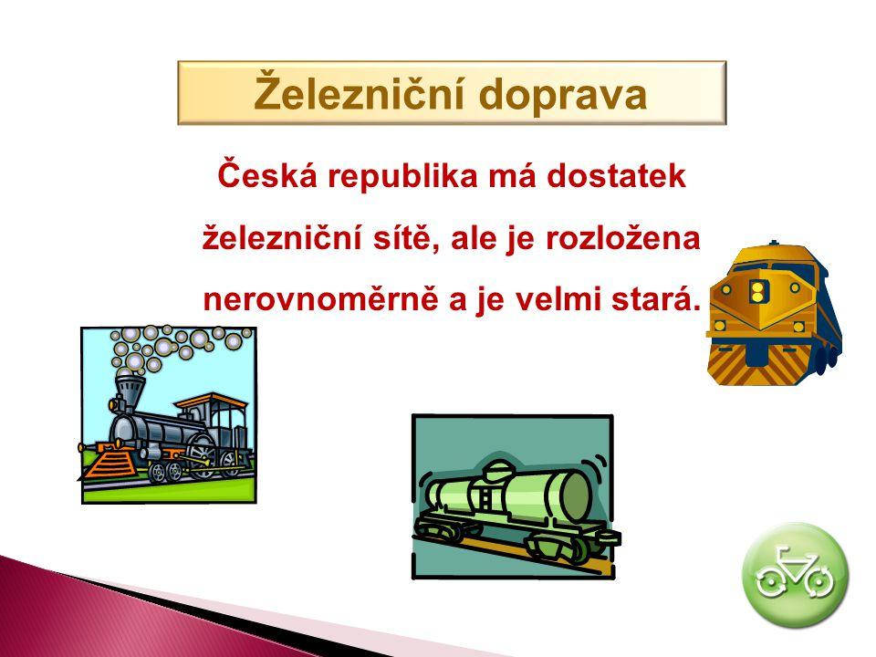 DOPRAVA V ČESKÉ REPUBLICE V České republice se nejvíce využívá doprava ŽELEZNIČNÍ a SILNIČNÍ.