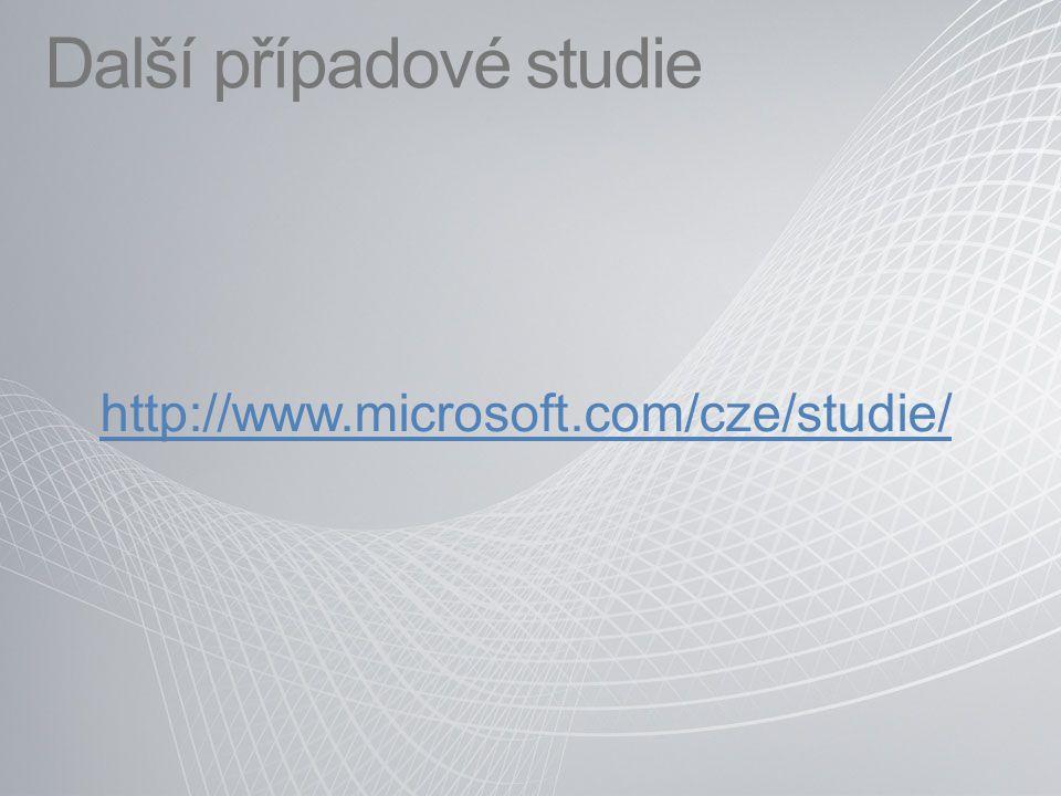 Další případové studie http://www.microsoft.com/cze/studie/