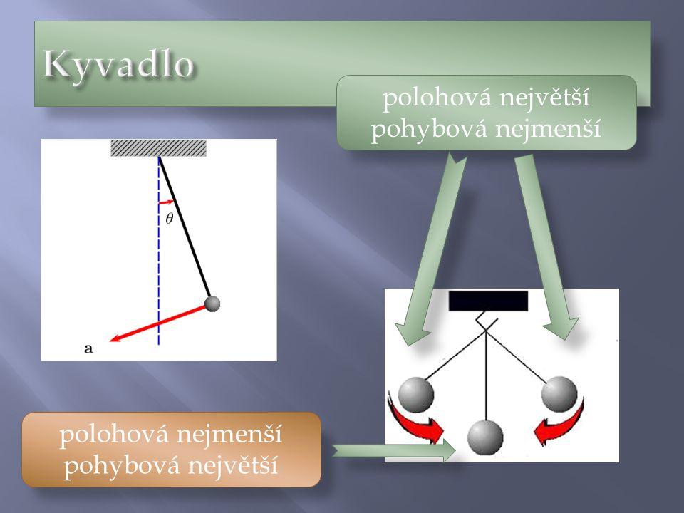 polohová největší pohybová nejmenší polohová nejmenší pohybová největší